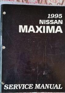 1995 Nissan Maxima Service Manual OEM SM5E-0A32U0 May, 1995 Edition