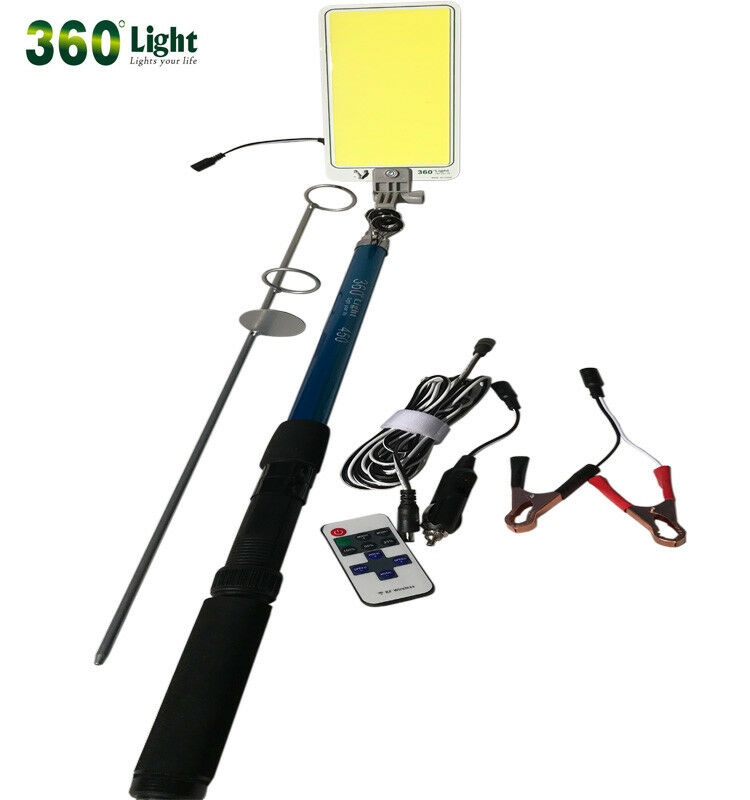 500W COB Fishing Rod Camping Lamp Telescopic   Powered Directly By Car For Outdo