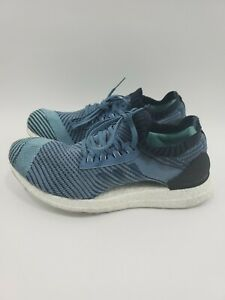 Adidas-Womens-Ultraboost-X-Parley-Running-Shoes-Blue-AQ0421-Low-Top-Knit-Size-9
