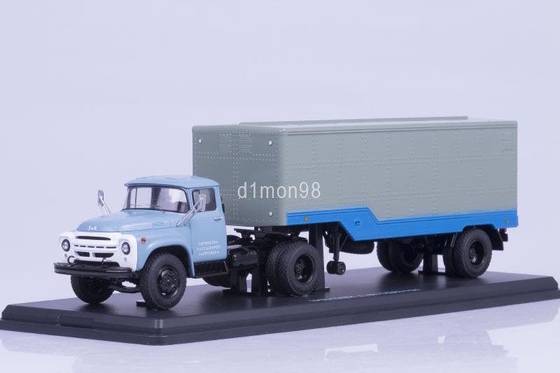 ZIL 130V1 tracteur avec ODAZ 794  remorque 1 43 Start Scale Models SSM7016  grande remise