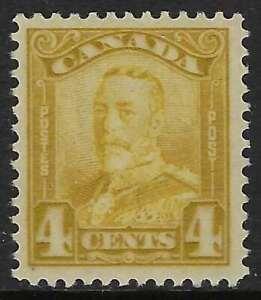 Scott-152-4c-Bistre-King-George-V-Scroll-Issue-VF-VLH