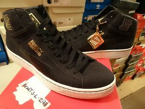 NEW PUMA X UNDFTD MID UNDEFEATED 24K GOLD PACK BLACK CLYDE 348216-01 ... 6b8f18d627