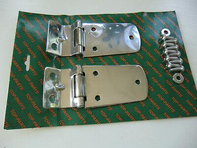 Eisenwaren Konstruktiv 2 Edelstahl Scharniere Motorhaubenscharniere Hochglanz Für Jeep Wrangler Tj 1997-2006