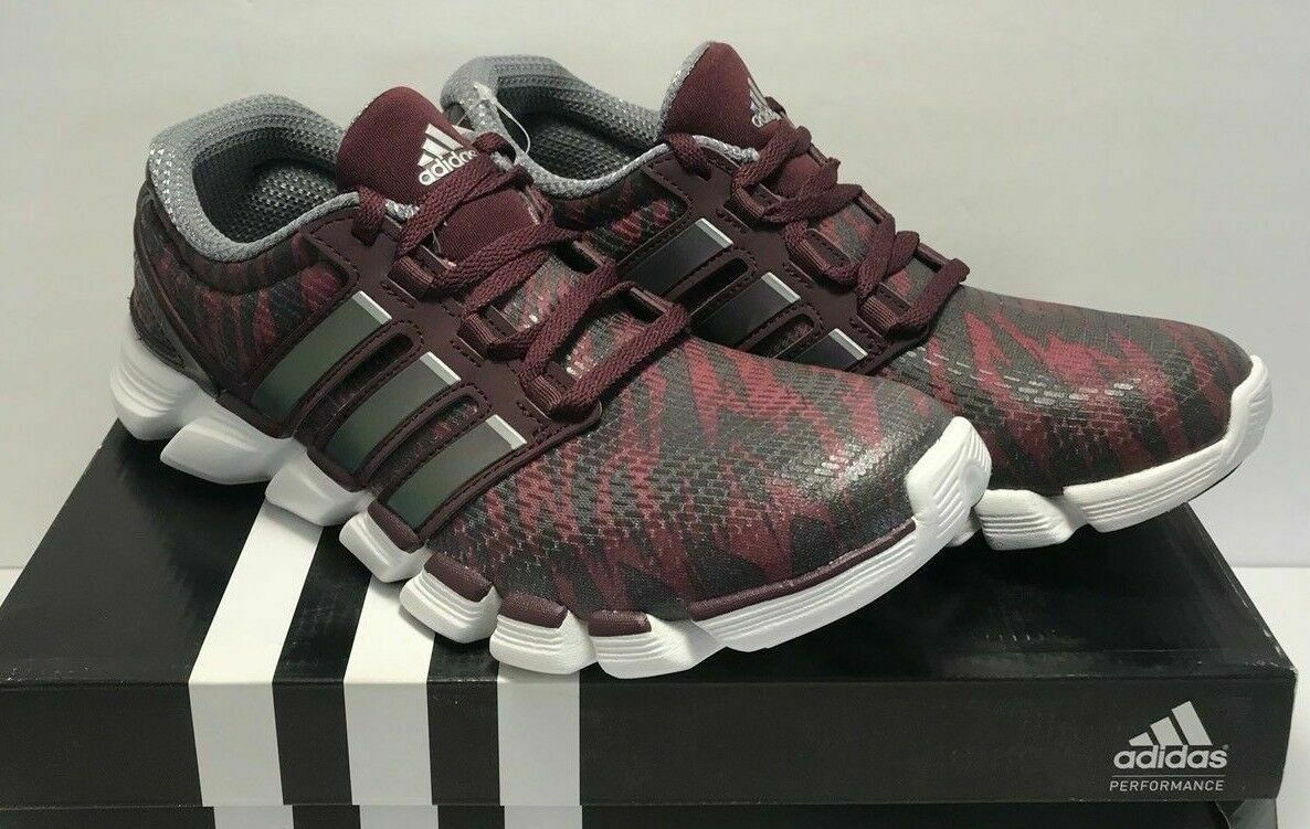 Adidas Mens Size 8 Adipure Crazy Quick Running shoes Maroon 3 Stripe Life