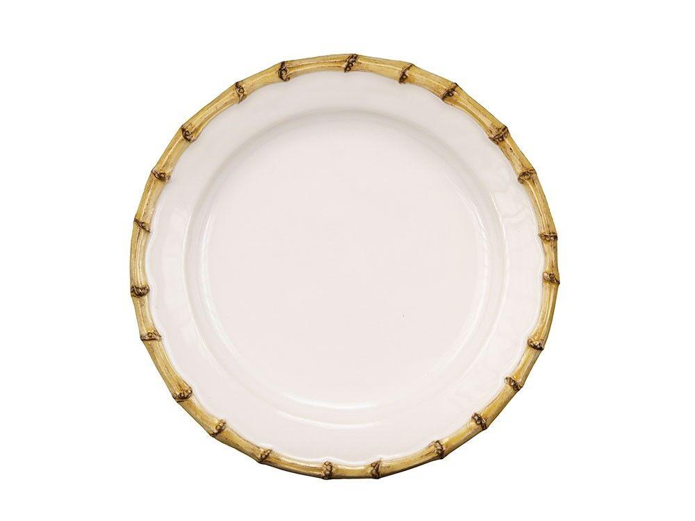 Juliska Classic Bamboo Natural Dessert Salad Plate - Set of 4