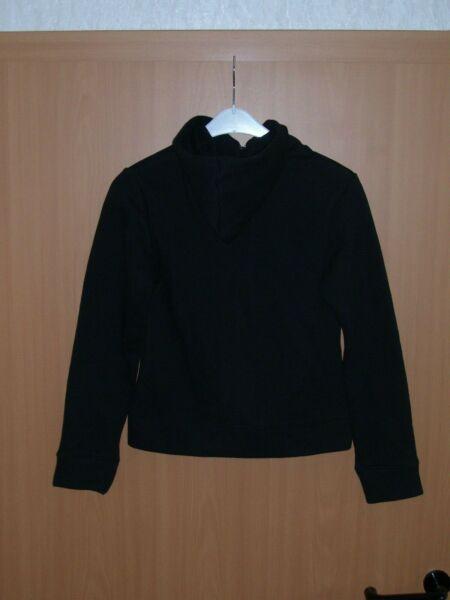 FOTL Damen Hoody Sweatjacke mit Kaputze Hoodie innen Fleece Jacke schwarz XS neu