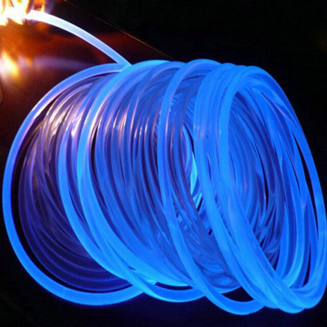 3mm 3m 10ft Car Home Led Lighting Decoration Side Glow Fiber Optic Cable Clear