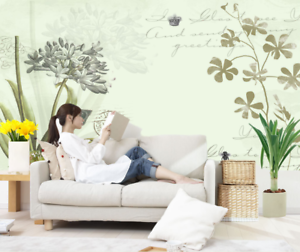 3D Plant And Flowers 7 Wall Paper Murals Wall Print Wall Wallpaper Mural AU Kyra