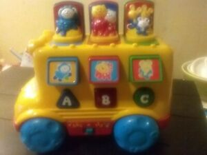 1999 Fisher-Price Toys, Musical Pop Up Bus - ABC's ...  |Fisher Price Bus Nursery Rhymes