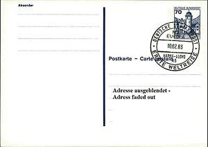 Bund-Ganzsache-Dt-Schiffspost-Schiff-MS-EUROPA-Stempel-034-Erste-Weltreise-034-1983