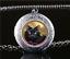 Foto-de-gato-negro-Cabochon-De-Vidrio-Amuleto-Collar-Colgante-Plata-Tibet miniatura 1