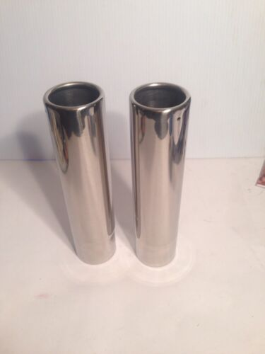 """Flo Pro 2.00/""""Stainless steel Pencil Tip Exhaust Tips 2 Pcs"""