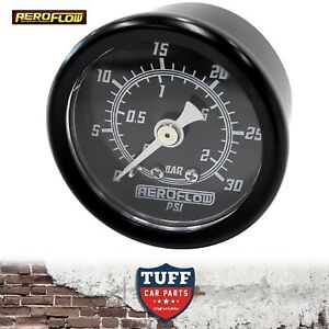 Aeroflow-Black-0-30-PSI-Carb-Fuel-or-Oil-Pressure-Gauge-1-5-034-38mm-1-8-034-NPT