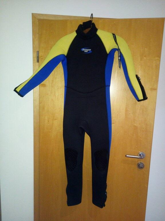 Neoprenanzug 5 mm Größe XL - blau,gelb,schwarz