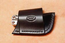 Wingman Custom Black Leather Crossdraw Sheath for Leatherman Wave Sidekick