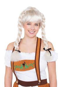 Agressif Fraulein Pigtail Wig Blonde, Oktoberfest, Robe Fantaisie-afficher Le Titre D'origine