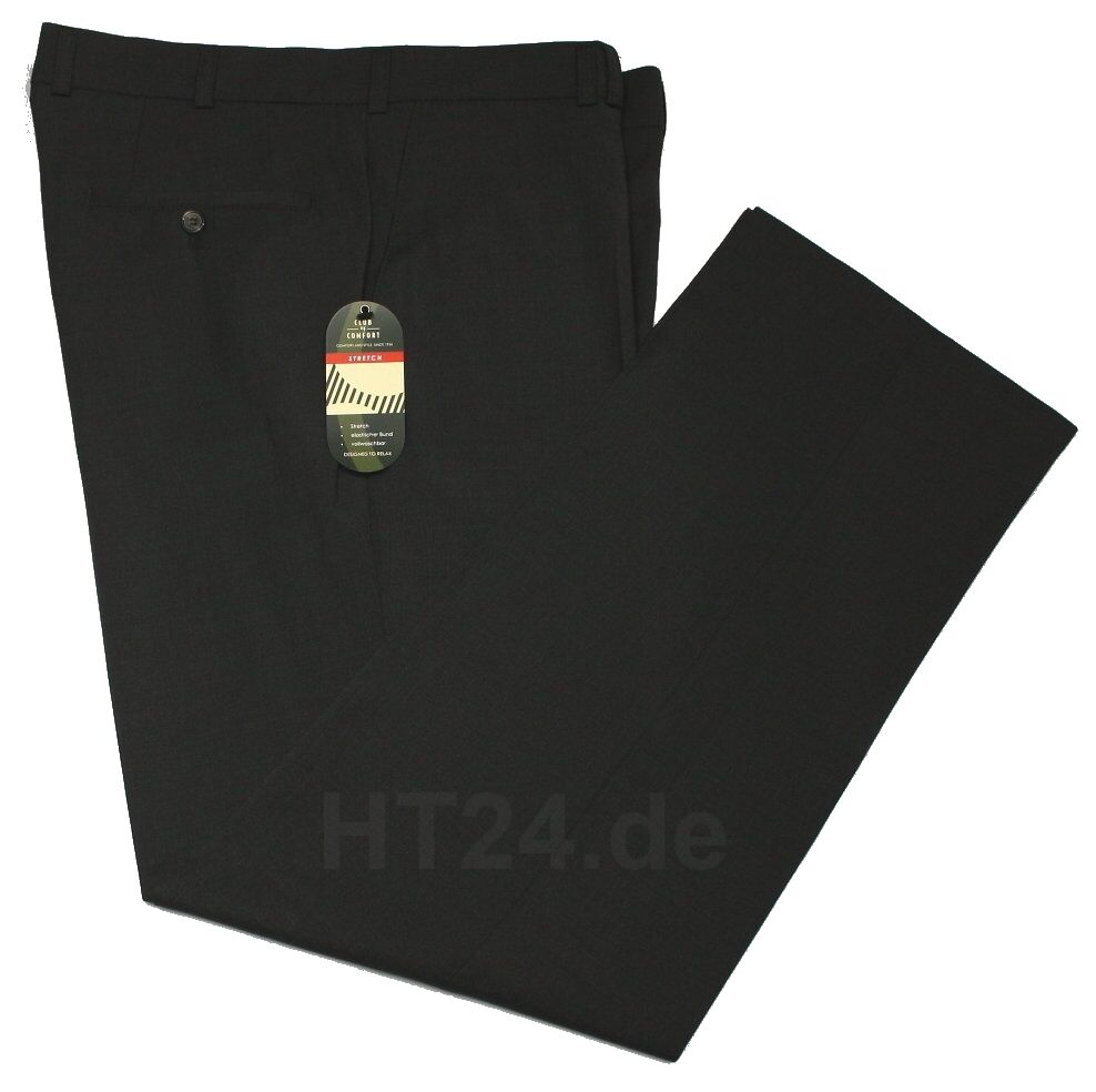 CLUB of COMFORT Kombi-Hose SANTOS 4118 anthrazit Stretch Gr. bis 54 106 27