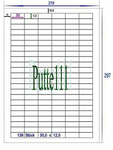 1380-Klebe-Etiketten-Aufkleber-30-0-mm-x-12-0-mm-10-Bogen-Druckvorlage