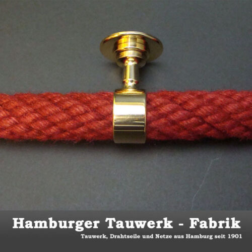 Seilträger für 30mm Handlaufseile Messing Handlauf