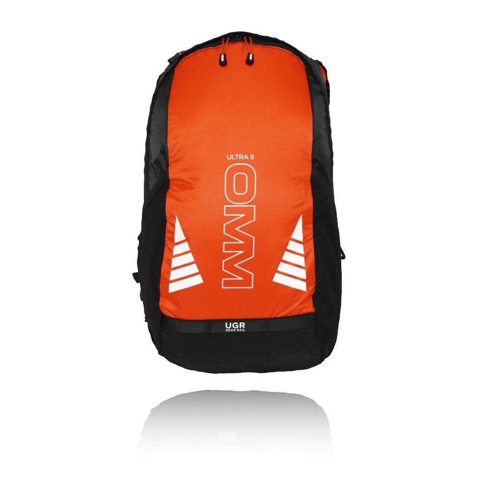 OMM Ultra 8 Unisex Arancione Impermeabili Antivento Corsa Zaino Borsa