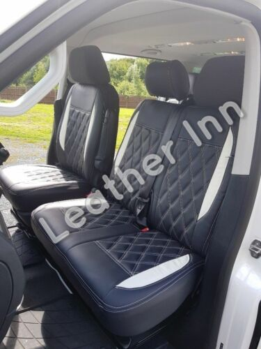 VW Transporter T6 1+2 Front Single /& Double Leatherette Seat Cover 2016-2019