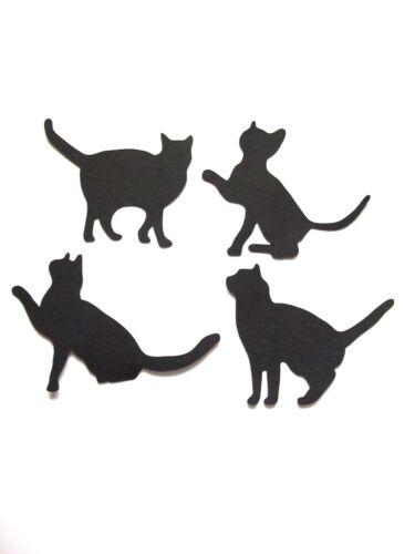 16  x  Elegant Silhouette Cats Die Cuts Black