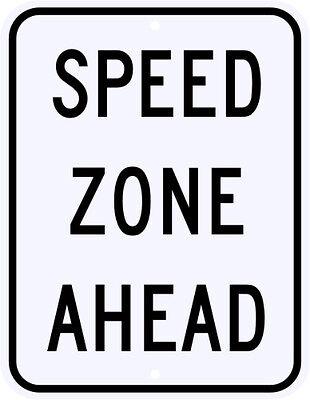 High Speed Zone Ahead Street Metal Sign Racing Performance