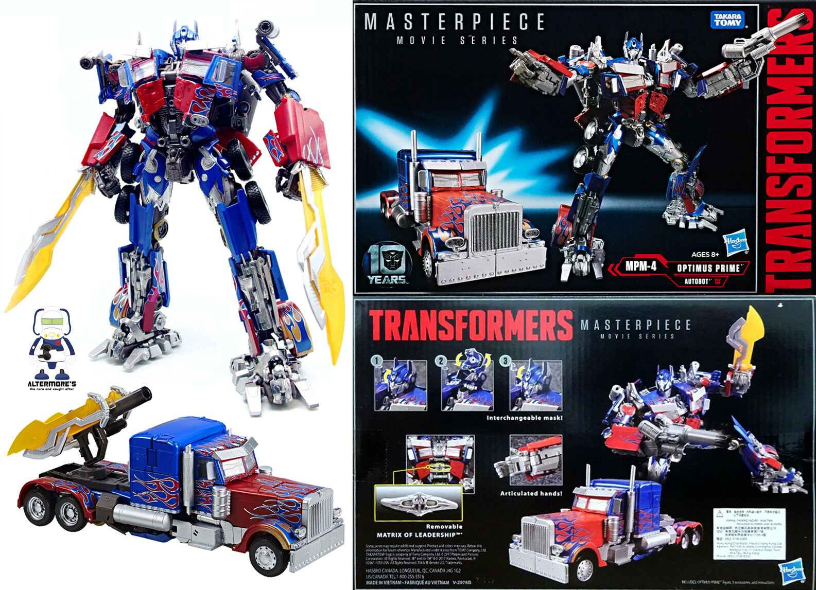 Transformers Hasbro Masterpiece Movie MPM-04 Optimus Prime MISB