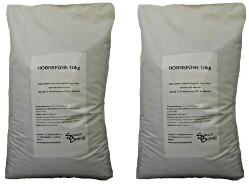 Hornspäne 20 Kg Organischer Naturdünger Blumendünger Gemüsedünger Bio 2 x 10 kg