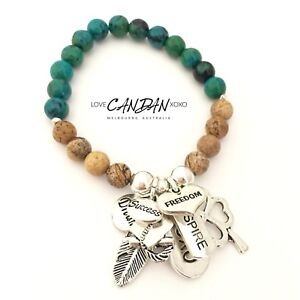 Details About Graduation Success Dream Luck Clover Inspire Charms Friendship Bracelet Gift