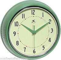 Infinity Instruments Retro Wall Clock Metal Wall Clock Home Décor Round Clock