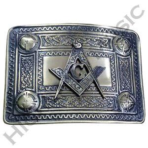 HM-Men-s-Highland-Kilt-Belt-Buckle-Masonic-Antique-Finish-Celtic-Belt-Buckles