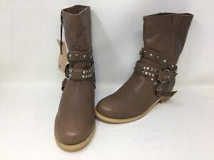 441d1ca2efe NEW! EMU Australia Women's Studed Leather Boots Tan Size:8 174A t | eBay