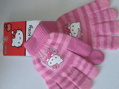Handschuh Fäustlinge Hello Kitty Mädchen Rosa Gem. 95% Acryl & 5% Elasthan