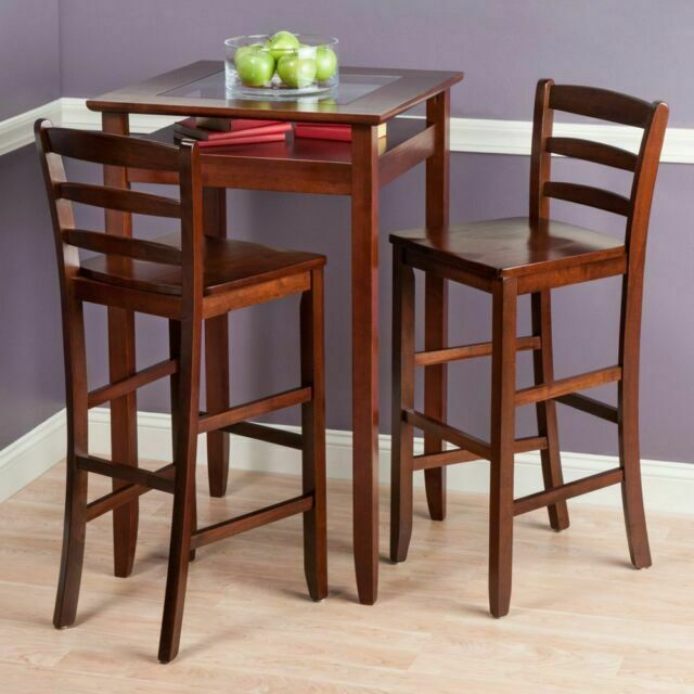 Winsome Wood Halo 3 Piece Pub Table Set