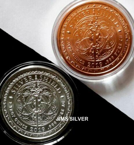IN STOCK 2019 Silver Shield ABRAHAM LINCOLN 1 oz Silver BU w// COA /& 1 oz Copper
