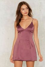 nasty gal Satin a Good Way Mini Dress medium LUX LA