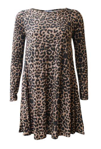 Schulterjacke Damen Leopardenmuster Swing Cami Body Kleid Rock Leggings