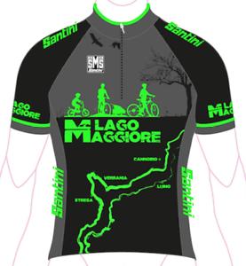 MAGLIA SANTINI LAGO MAGGIORE black green Size XL