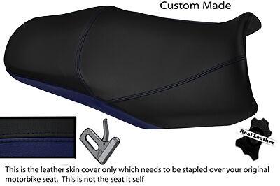 Negro Y Azul Marino Custom Fits Yamaha Fazer Fzs 1000 01-05 Doble Cubierta De Asiento