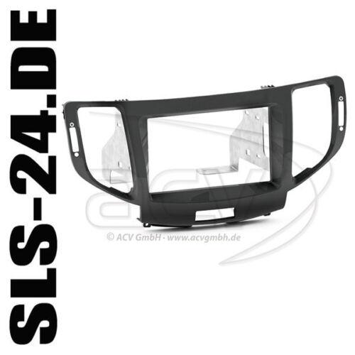 Honda Accord ab11 doble DIN set instalación marco radio diafragma radio diafragma negro