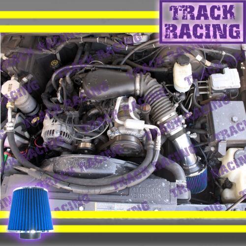 96-05 CHEVY S10 PICKUP BLAZER GMC SONOMA JIMMY 4.3L V6 AIR INTAKE KIT Black Blue