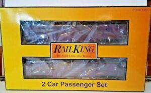 Rail-King-O-gauge-2-car-60-039-Streamlined-sleeper-diner-set-30-6731-NIB-C-amp-P