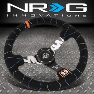 NRG-INNOVATIONS-RST-036MB-S-KMR-350MM-3-034-DEEP-DISH-SUEDE-HANDLE-STEERING-WHEEL