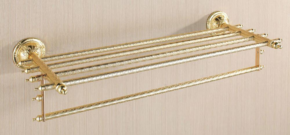 Luxe Bain Porte-Serviettes Barre Quintuple Montage au Mur Sanlingo Or Series BS2