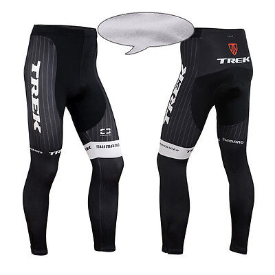 Mens Bike Tights Cycling Riding Padded Pants Winter Thermal Fleece Bicycle Gear