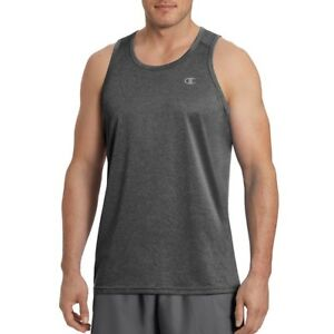 64b8fa4c5 Champion Men's Double Dry Tank Top With Freshiq Black Heather S for ...
