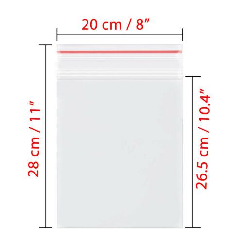 18 Size 30-1000 Small to Large Resealable Clear Plastic Seal Press Zip Lock Bags