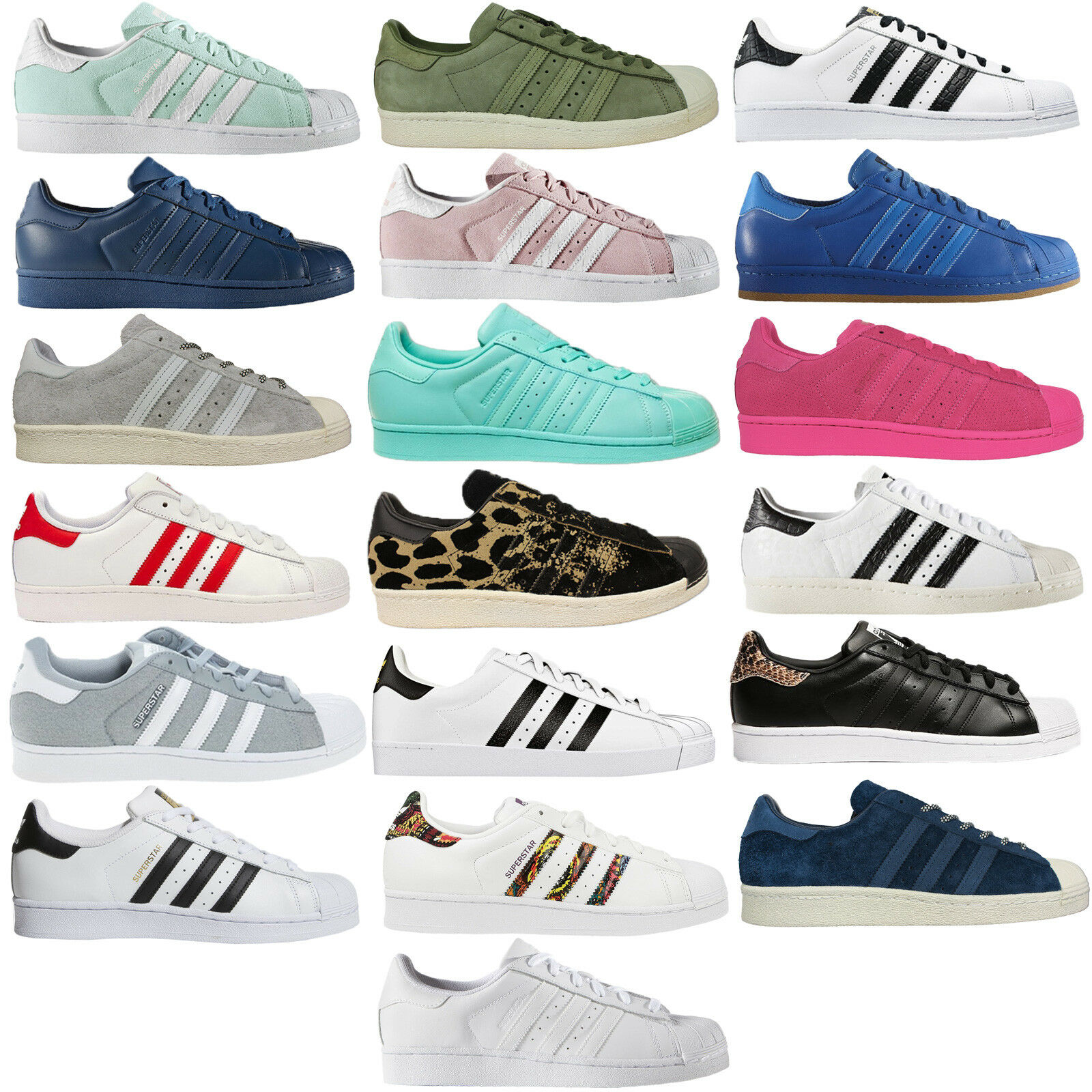 Adidas Originals Superstar Sst Unisex Leather Trainers shoes