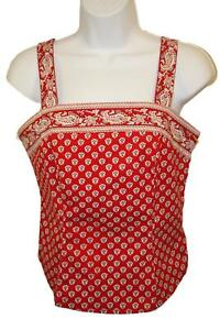 Harold-039-s-Women-039-s-Ladies-Red-Paisley-Sleeveless-Summer-Sun-Top-Blouse-Size-2